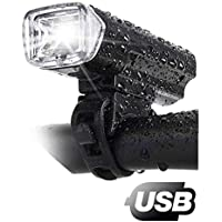 FLQ123 Led Bike Flashlight Rechargeable USB Bicycle Front Light IPX5 Waterproof 1200mAh