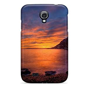 Durable Protector Case Cover With Beautiful Sunset On Seacoast Cliffs Hot Design For Galaxy S4