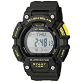 Casio Men's STL-S110H-1CCR Tough Solar Runner Digital Black Watch