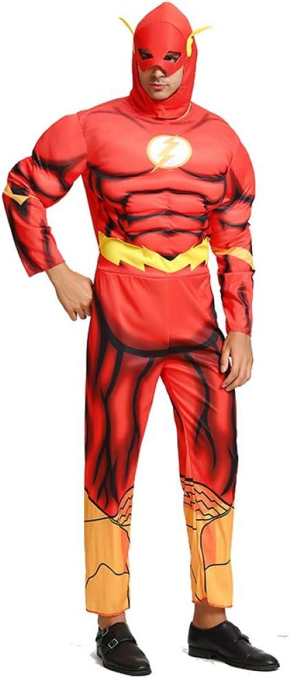 WSJYP Disfraz De Halloween Niño Adulto Hombre Superhéroe Flash ...