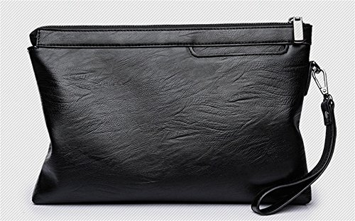 BAO Bolsos para hombres bolso de embrague casual bolso de embrague de los hombres bolso de sobre de gran capacidad para negocios de hombres