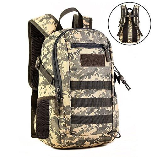 Wowelife 12L Mini Daypack Military MOLLE Backpack Rucksack Gear Tactical Assault Pack Student School Bag for Hunting Camping Trekking Travel - List Brands Bag Australian