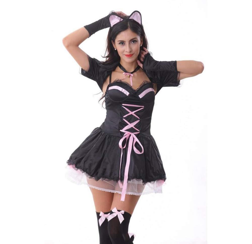 Olydmsky karnevalskostüme Damen Halloween-Kostüm Damen Rolle Spielen Katze Dress Kostüm Abschlussball Kostüm