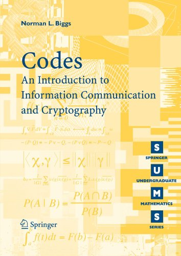 Codes: An Introduction to Information Communication and Cryptography (Springer Undergraduate Mathematics Series) (Introduction To Computer Networks And Data Communications)