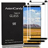 Galaxy Note 8 Screen Protector, Full Screen Coverage Glass Defense [Curved] HD Galaxy Note 8 3D Screen Protector Film for Samsung Galaxy Note 8 Tempered Glass Screen Protectors [2-Pack] Black