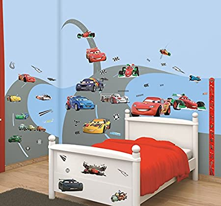 Walltastic Disney Cars Room Decor Kits, Multi Colour