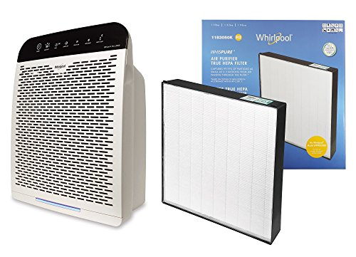 - Whirlpool Whispure WPPRO2000 & Extra Genuine HEPA Replacement Filter Set, Air Purifier for Large Room - Doctor's Choice Air Cleaner, Capturing Allergens - Remove Pollen, Dust, Mold - 508 sq ft, White