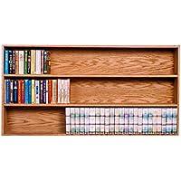 The Wood Shed 308-4B U Solid Oak Bookcase, Unfinished