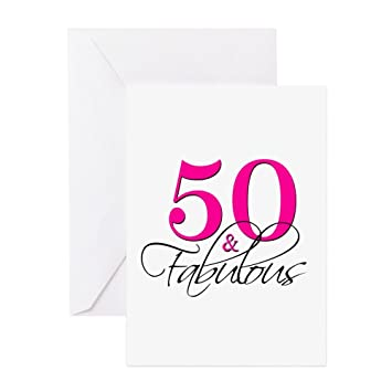 Amazon Cafepress 50 And Fabulous Pink Black Greeting Cards
