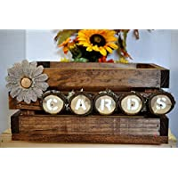 Wedding card box shabby chic holds 100+ cards rustic wood crate