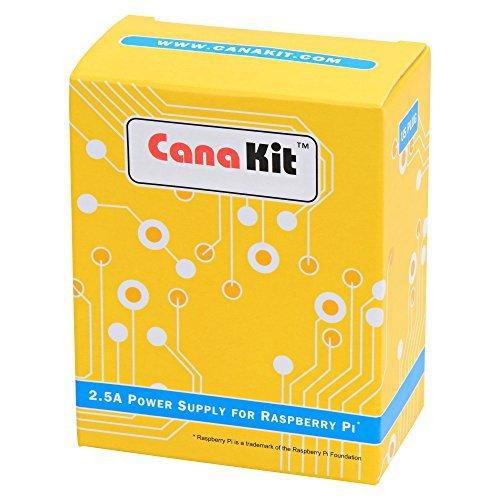 Fuente de alimentación /adaptador CanaKit 5V 2.5A Raspberry Pi 3 B + (con certificación UL)