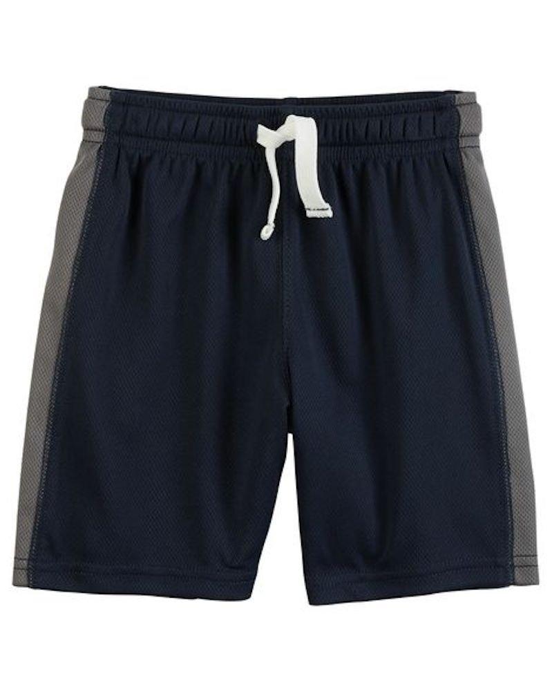 Carter's Little Boys' Pull-On Mesh Shorts, Navy, 5-Toddler