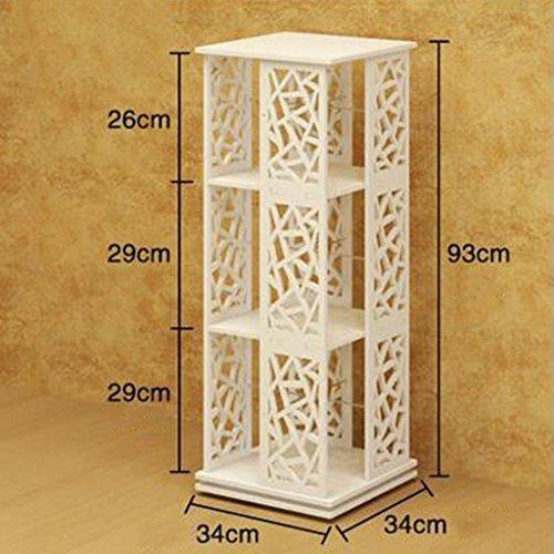 - Bookcases 360 ° Rotatable Bookshelf Simple Floorstanding Student Modern Children's Storage Shelves Size Optional (Size : 3 layers)