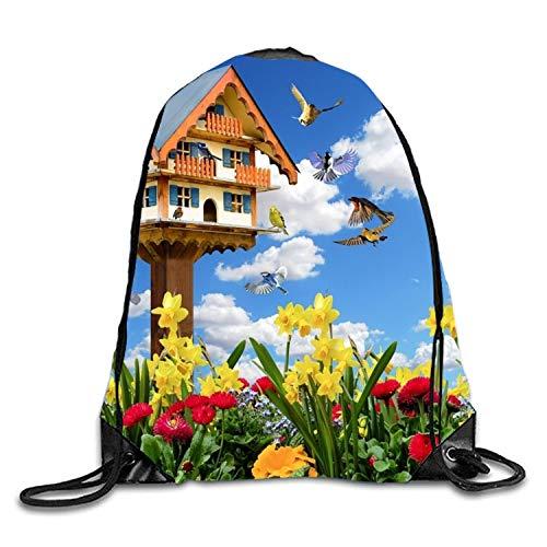 Charactizing A Fine Spring Drawstring Backpack Bag Men Women Sports Gym Sack Sackpack Yoga Dance Travel Daypack by MALBX (Image #1)