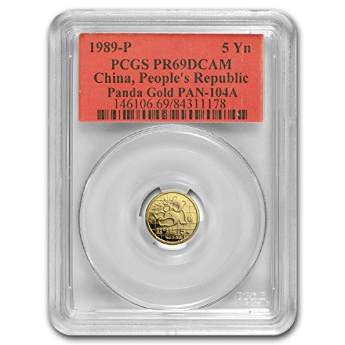 1989 CN China 1/20 oz Proof Gold Panda PR-69 PCGS Gold PR-69 PCGS