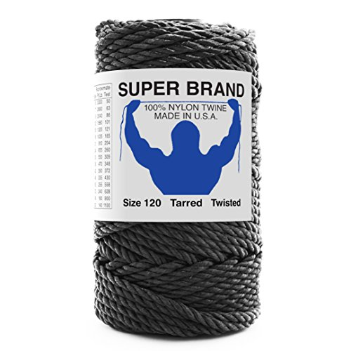 (Super Brand Alligator Twine. Twisted, Tarred Nylon. Size 120 (1100 lb Test), 1 lb)