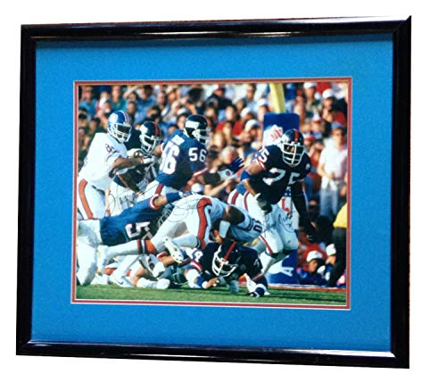 (Lawrence Taylor Carson Martin Ny Giants Autographed Signed SB XXi Framed 16x20 Photo Steiner)