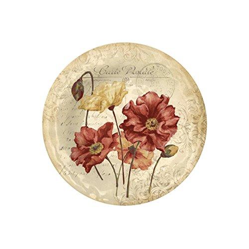 Merritt Vintage Sunflower Square Melamine Plate, 8-Inch, Set of - Square Merritt