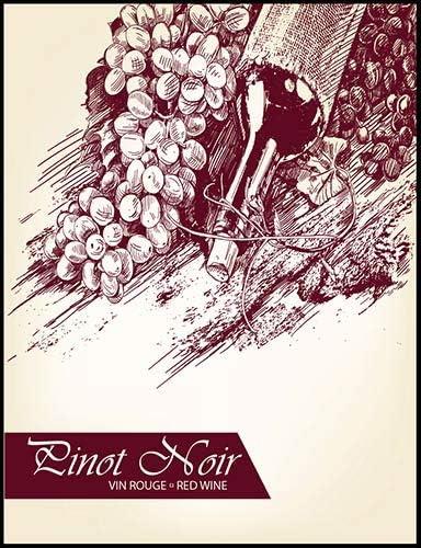 Pinot Noir Wine Bottle Labels