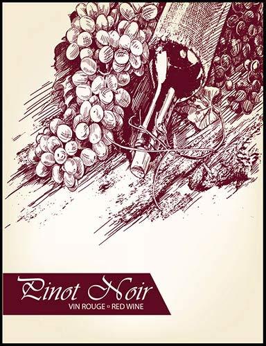 Pinot Noir Wine Bottle Labels ()