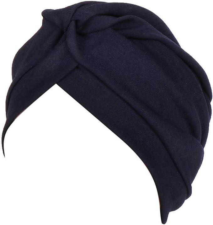 RISTHY Pañuelos Oncologicos para Mujer, Gorros Bufanda India Musulmán Abaya Turbante Color Sólido Sombrero Plisado Elástico Yoga Bambú para Quimioterapia: Amazon.es: Ropa y accesorios