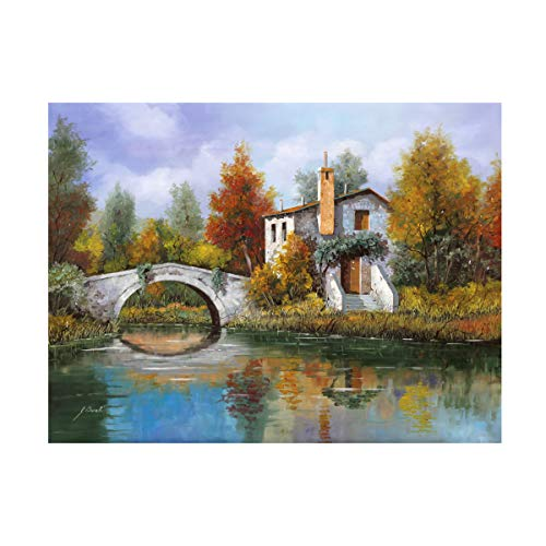 Trademark Fine Art Paesaggio Pastellato by Guido Borelli, 24x32, ()