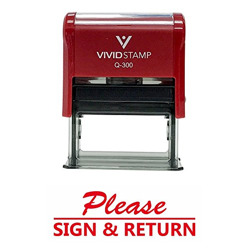 (Please Sign and Return Self Inking Rubber Stamp (Red Ink) -)