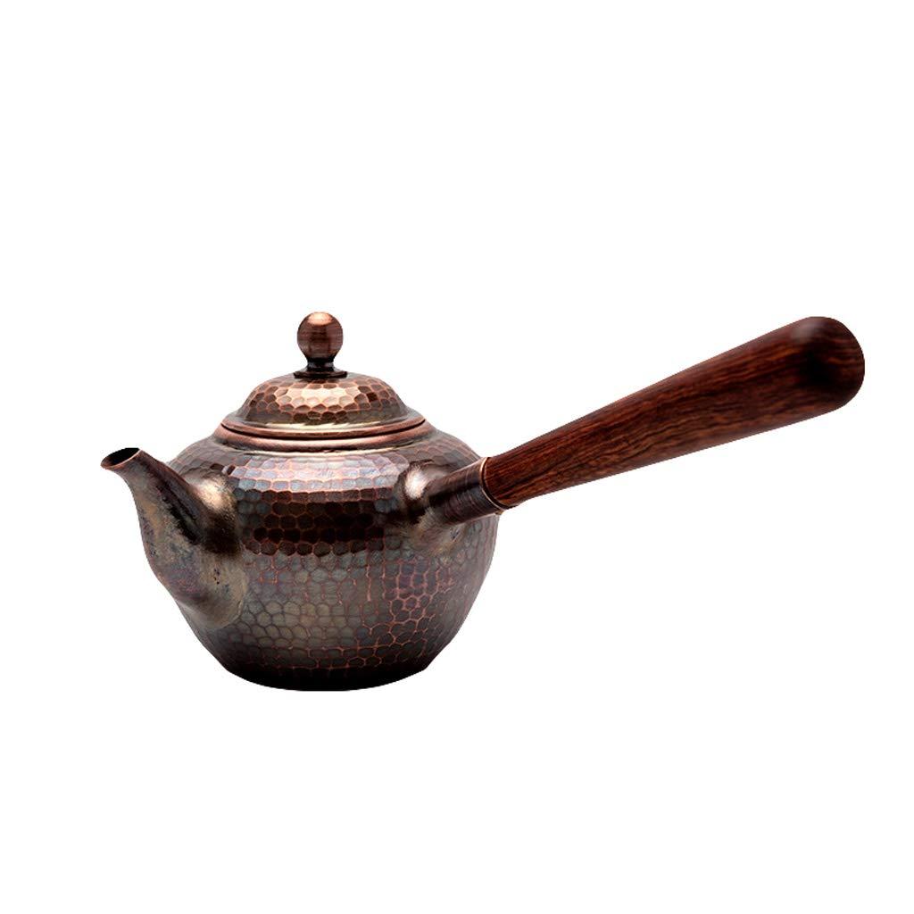 【最安値に挑戦】 QIQIDEDIAN サイドハンドル銅鍋手作りティーセットティーポット銅ポットケトルアンチホットハンド厚い銅ポット0.45L (色 きんぞく) : 金属 きんぞく) 金属 QIQIDEDIAN きんぞく 金属 B07JZCRNDY, 高品質の激安:92a28cee --- ciadaterra.com