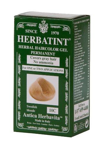 Herbatint Цвет волос, 10С Шведский Белый, 4 жидкую унцию
