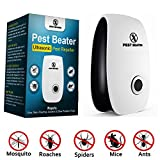Pest Beater Ultrasonic Pest Control Repeller. Plug-In Repellent. Electronic sound waves repels Mosquito Roach Mice Flea Rodent Ants Rats Mouse Flies Spider Roaches Insects Bugs