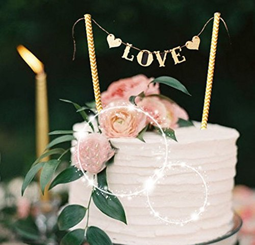 Love Wedding Cake Banner Topper, Party Supplies Decorating Cake Topper, Mariage Wedding Decoration Event Party Supplies
