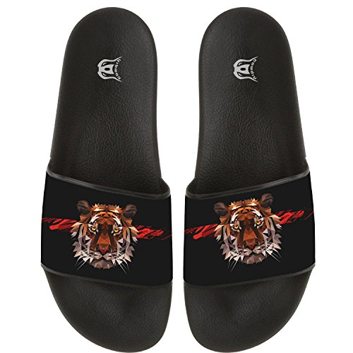 ed83f32af7107b COWDIY Indoor And Outdoor Fighting Tiger Flip Flop Slippers Beach Sandal  For Beach   Pool well