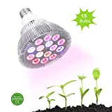 Ledgle 30w Led Grow light Bulb , Miracle Grow Plant Light for Hydropoics Organic Mini Greenhouse,3 Bands with 15 LED Bulbs For Sale
