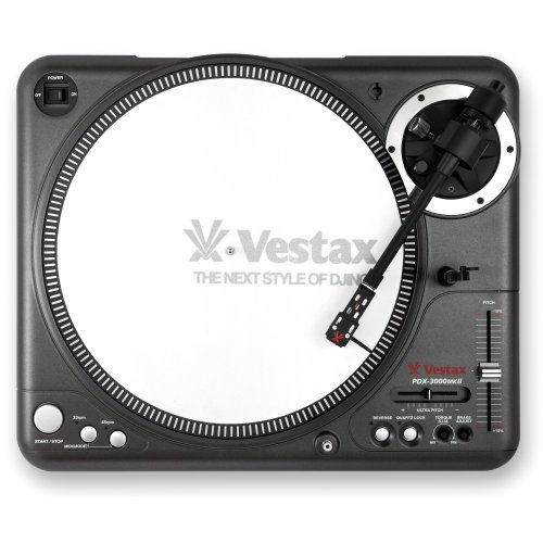 Vestax PDX-3000MKII Professional Turntable With Midi Input and Adjustable Torque