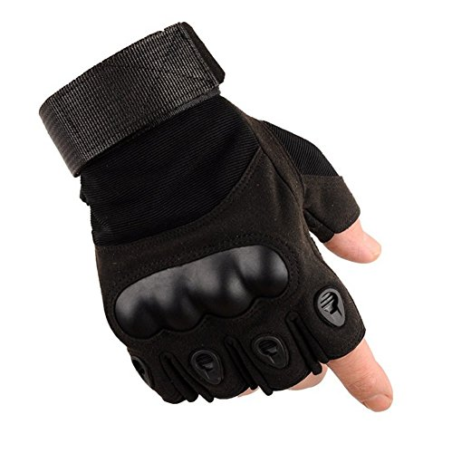 Price comparison product image WEIFEI Men's Outdoor Sports Fitness Dumbbell Wrist Black Eagle Anti-skid Riding Tactics Half Finger Gloves