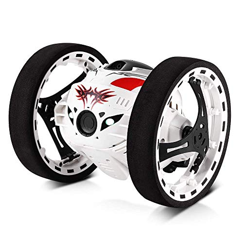 Accreate 2.4GHz Wireless Remote Control Jumping RC Toy Car White