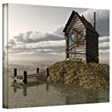 Art Wall Cynthia Decker Locked Out Gallery-Wrapped Canvas Art, 24 by 36-Inch