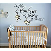 LUCKKYY No More Monkeys Jumping On the Bed Wall Decals Vinyl Wall Sticker Bab...