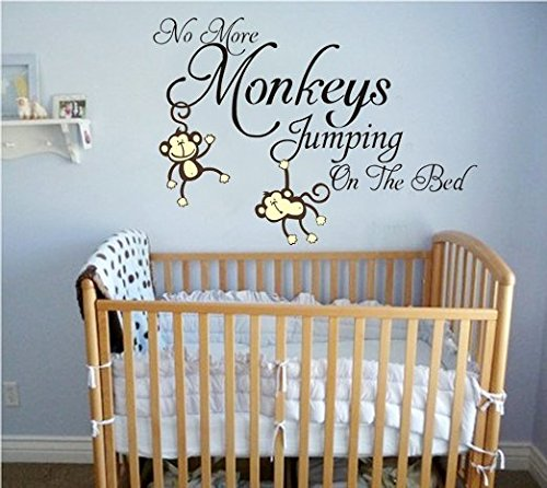 LUCKKYY-No-More-Monkeys-Jumping-On-the-Bed-Wall-Decals-Vinyl-Wall-Sticker-Baby-Kids-Nursery-Wall-Decorations-for-Living-Room
