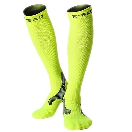 6b809adb170 1 Pair Professional Long Men s Cycling Socks Bike Anti-Slip Running  Compression Sport Socks Leg