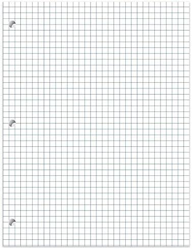 1InTheOffice Notizblock, kariert, liniert, 8,5 x 11, 80 Blatt, 2 Stück
