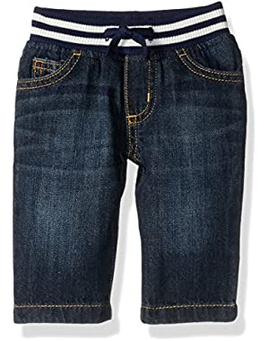 Baby Toddler Boys' Easy Little Spring Pull-on Jeans