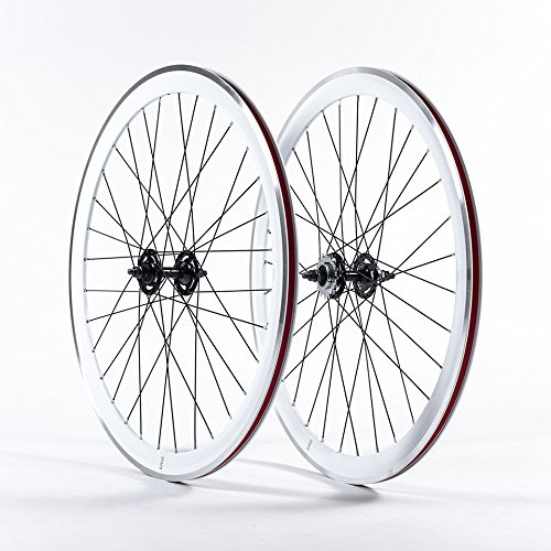 State Bicycle Co. Deep V Fixed- Gear Wheel Set | White/Black