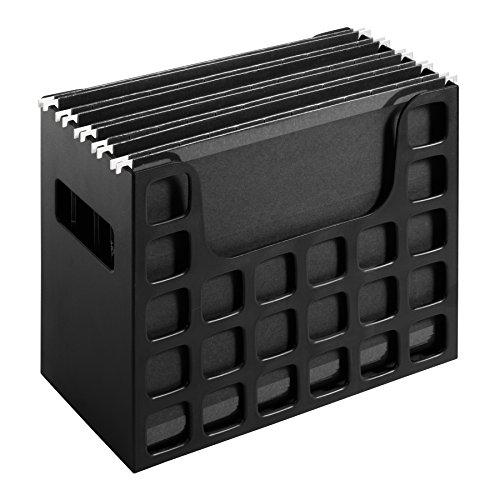 Pendaflex 23013 Desktop File w/Hanging Folders, Letter, Plastic, 12 1/4 x 6 x 9 1/2, Black