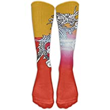 FUNINDIY Originality Bhutan Compression Socks Soccer Socks High Socks Long Socks For Running,Medical,Athletic,Edema,Diabetic,Varicose Veins,Travel,Pregnancy,Shin Splints,Nursing.