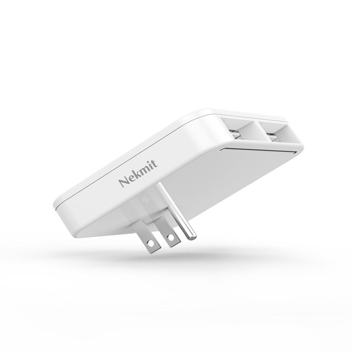 Nekmit Dual Port Ultra Thin Flat USB Wall Charger with Smart IC by Nekmit (Image #3)