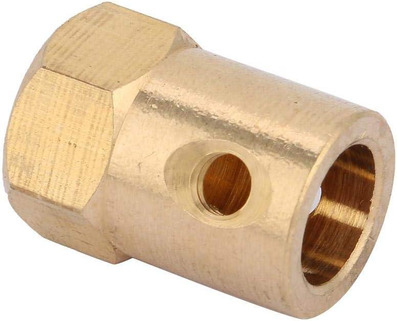 4 st/ücke M4 Premium Messing Kupplungen Durable Sechskantkupplung zum Anschlie/ßen von Spielzeugautos Roboter Inner Hole Diameter: 6mm