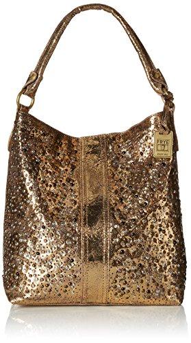 Studded Fashion Hobo Handbag (FRYE Deborah Studded Hobo, Gold, One Size)
