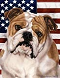 Cheap Best of Breed Bulldog Patriotic II Large Flags.