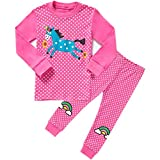 Girls Cute Owl Pyjamas Set Children Kids Long Sleeve 100% Cotton Pjs Pajamas Nightwear Sleepwear Tops T Shirts & Pants Outfit Age 2-7 Years Hot Pink